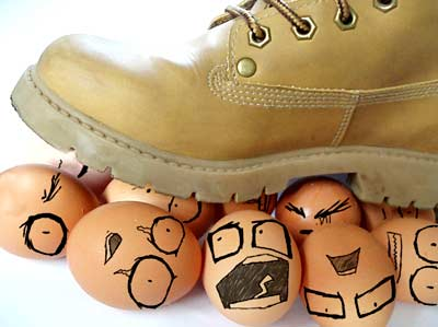 Marriage is like walking on egg shells!!!